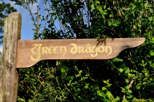 Green Dragon Sign