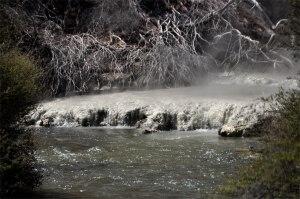 Hot silica meets stream