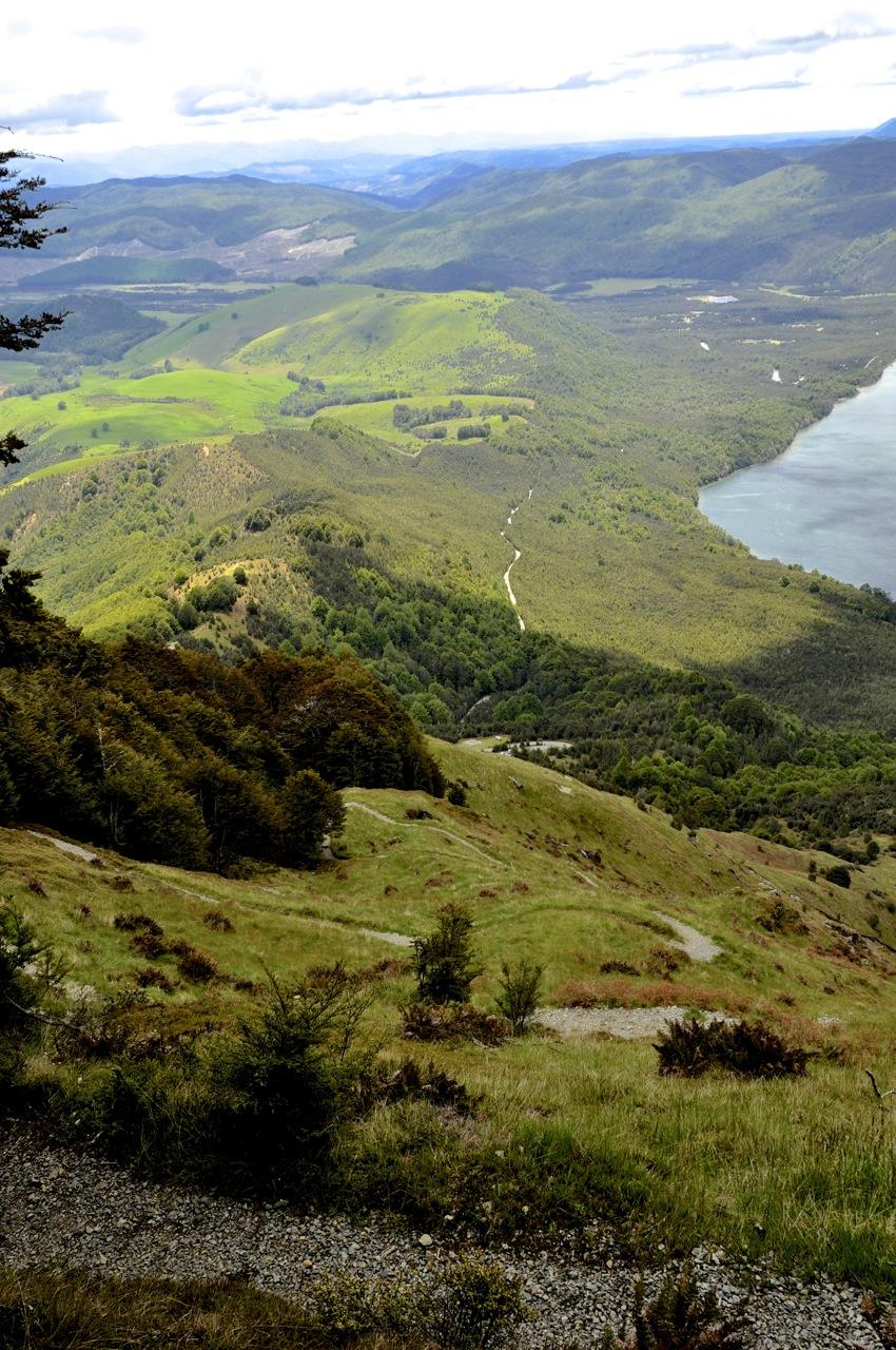 Snaking steep trail