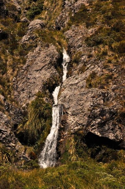 Small waterfall comin' down