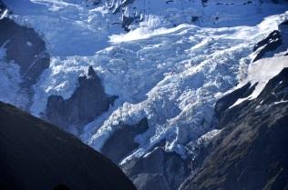 Closeup of the glaciers