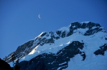 Mt Sefton, setting moon