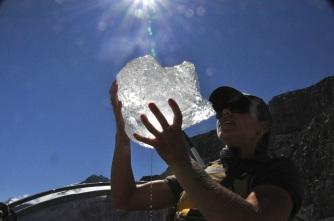 Iceberg in hand