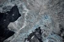 Blue ice of the Heddleston Glacier