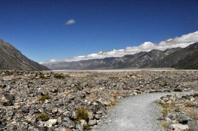 Tasman glacier moraine plain
