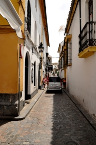 Narrow medieval streets still permit car traffic