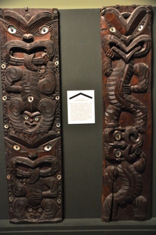 Maori carvings for meeting house, 1870's