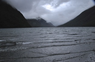 Lake Gunn in rain