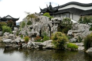 Chinese garden mountain