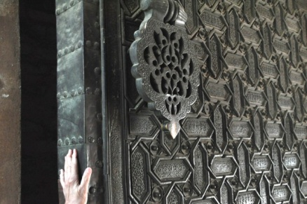 Massive bronze door, picture from Sevilla