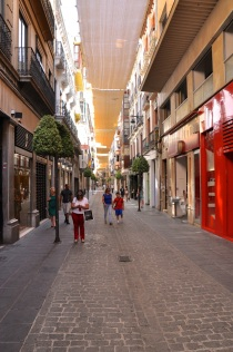 Shops in the historical area, Granada