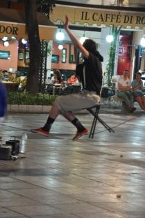 Street performer, Plaza de Bib-Rambla