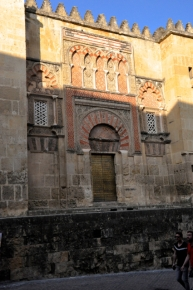Detail of the exterior wall