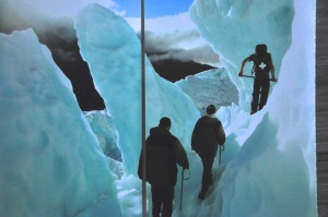 Glacier walk, picture from brochure
