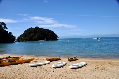 Kaiteriteri beach, looking out to the Tasman Bay