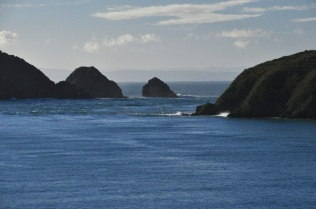 About to enter the Cook Strait
