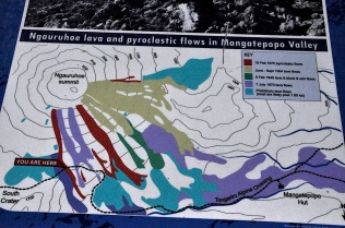 History of lava flows from Mt. Ngauruhoe