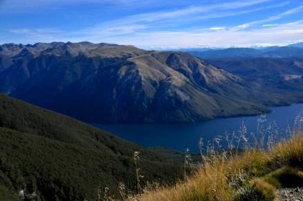 Last view of Mt Robert and Lake Rotoiti from above
