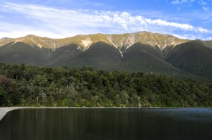 The St Arnaud range; we hiked up the middle fold