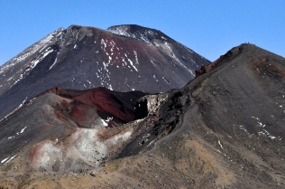 The Red Crater, and the steep slide down