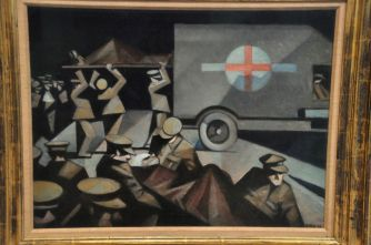 Christopher Nevinson, Night Arrival of the Wounded, 1915