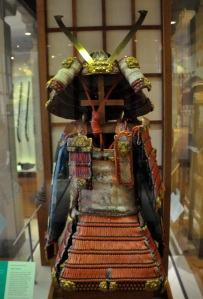Armor worn by mounted samurai, about 1300 AD