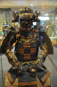 The armor was a gift from Japan's Shogun to King James (I & VI of united England & Scotland) on establishing trading rights, 1613