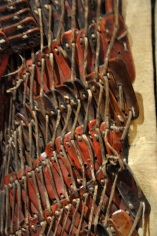 Detail of leather lamellae