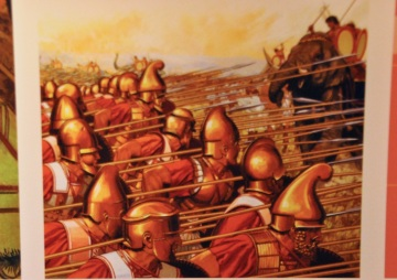 Illustration of Alexander the Great's battle against India, 327 BC