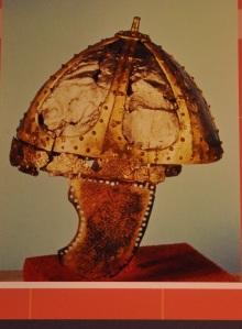 "The ""star helmet"", named for the straps of the framework; Italy, 500 AD"