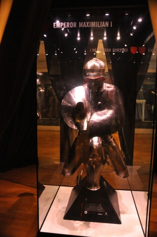 German jousting armor worn by Roman Emperor Maximilian I, a tournament competitor. About 1500 AD.