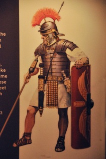 Later armor and weapons of a Roman soldier