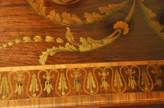 Detail of Chippendale inlay