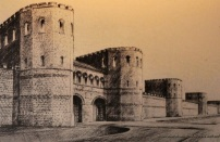 Another artist rendition of the Roman fortress Eboracum