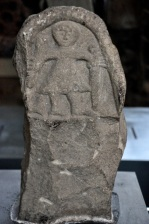 Grave marker for Viking warrior (the other side shows the slaughter of an Anglian monk)