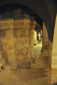 Roman basilica columns supporting the Minster