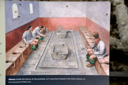 Artist's conception of the fort latrine