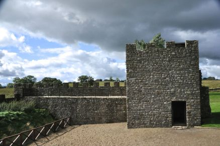Replica of the fort wall and tower