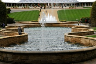 Alnwick Garden fountain, from top