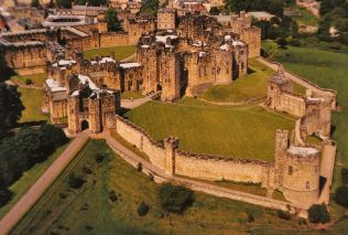 Alnwick Castle, today (from a picture)