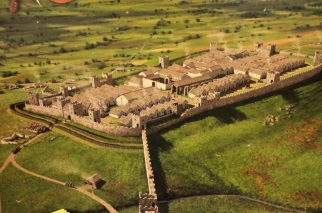 Depiction of the Roman Housestead Fort, about 250 AD