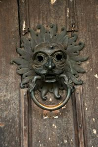 Bronze knocker from the 1100's used by criminals seeking sanctuary