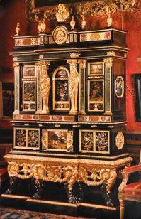 Ebony cabinet by Domenico Cucci in 1683