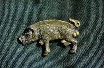 Richard III's symbol, a white boar, in silver