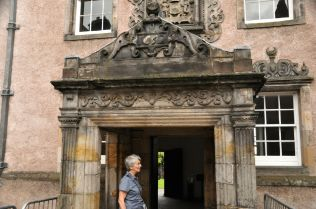 Covered entrance with inscribed date of 1632