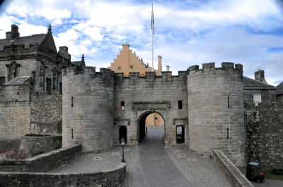 The original entrance to Stirling Castle, much changed