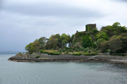 Dunollie Castle overlooking the harbor