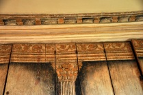 Close-up of the original painted decoration (340 yrs old!)