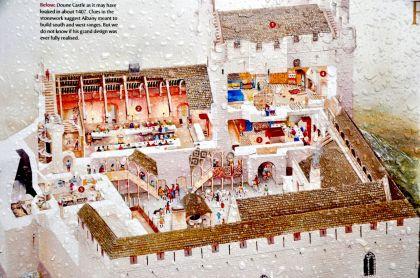 Artist's view of Doune Castle in 1407 (ignore the raindrops)