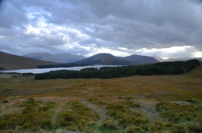 Beginning to leave the Rannoch Moor